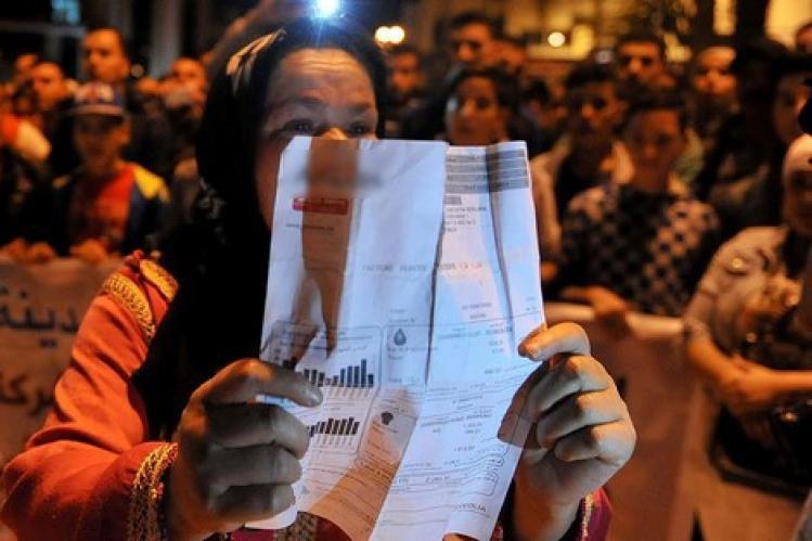 فواتير الكهرباء تخرج سكان تيفلت إلى الشارع للاحتجاج
