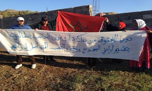 القوات العمومية تتدخل لفك اعتصام سلاليين بضواحي الحاجب
