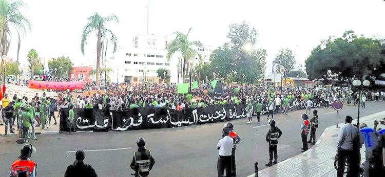 إصابة 12 مواطنا بجروح بسبب الوقفة الاحتجاجية لجماهير النادي القنيطري