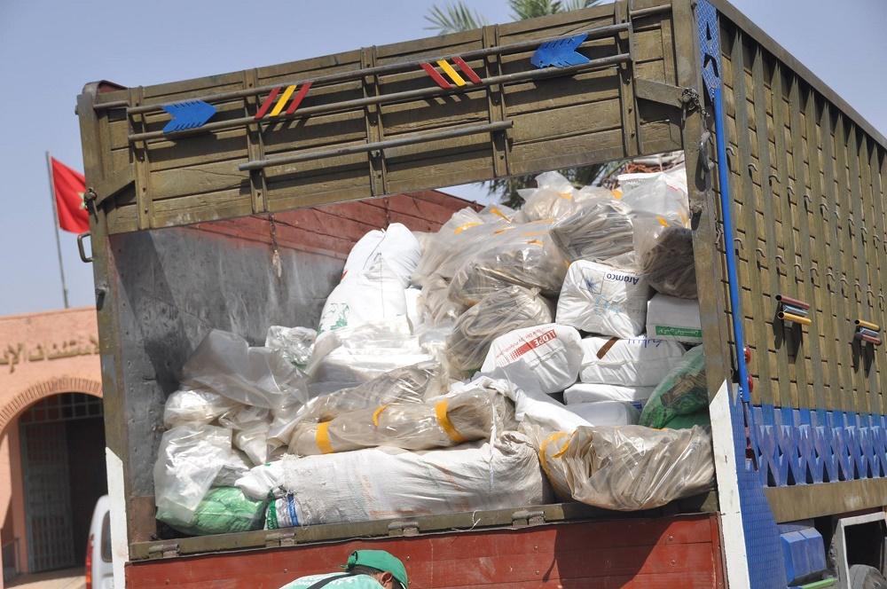 سلطات مراكش تحجز أزيد من 10 أطنان من الأكياس البلاستيكية