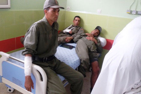 إصابة 34 من القوات العمومية في أعمال شغب أثناء فض نزاع حرث بسطات