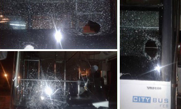 اعتقالات بعد تخريب 17 حافلة بفاس عقب مباراة رياضية