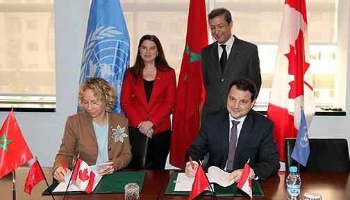 توقيع اتفاق دعم مالي بين كندا وبرنامج الأمم المتحدة الإنمائي لدعم تنظيم مؤتمر (كوب22)