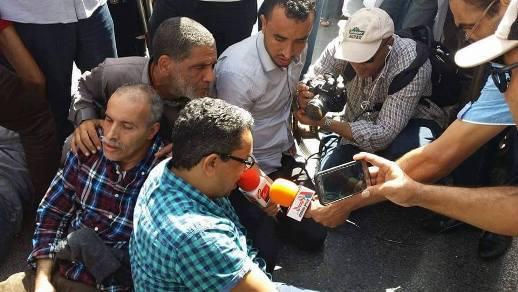 منظمة حاتم تدين قمع مسيرة اسقاط التقاعد وتتضامن مع الصحافيين الإيطاليين