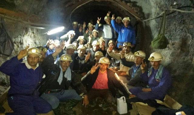 عمال مناجم جبل عوام بمريرت يعودون للاعتصام