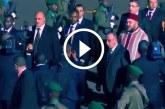 شاهد حفل استقبال الملك محمد السادس لدى وصوله لمطار كيغالي برواندا