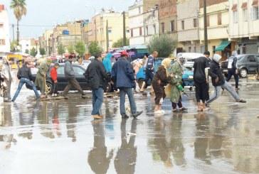دقائق من الأمطار ببرشيد تضع «ONEP» والمجلس البلدي في قفص الاتهام