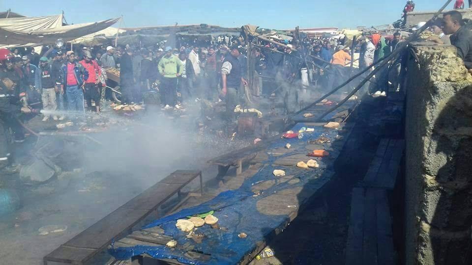 عشرات المصابين في انفجار قنينة غاز بسوق في عين عودة