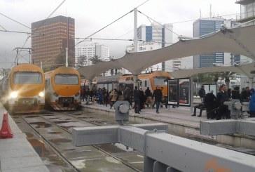 فيضانات الرباط وسلا توقف حركة القطارات