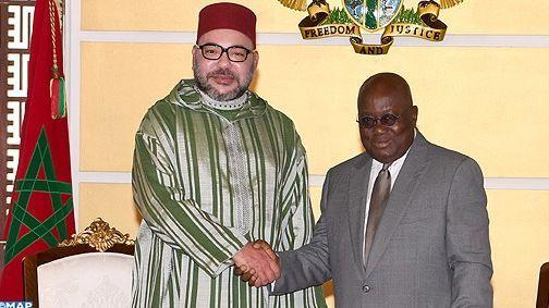 الملك يجري مباحثات على انفراد مع الرئيس الغاني
