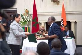 الملك يترأس حفل التوقيع على 19 اتفاقية في زامبيا