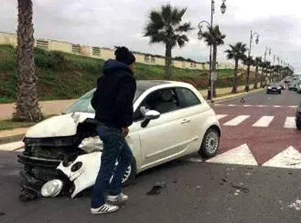 ثلاثة قتلى بينهم شرطي وإصابة شخصين بجروح خطيرة في حادث مروع بالهرهورة