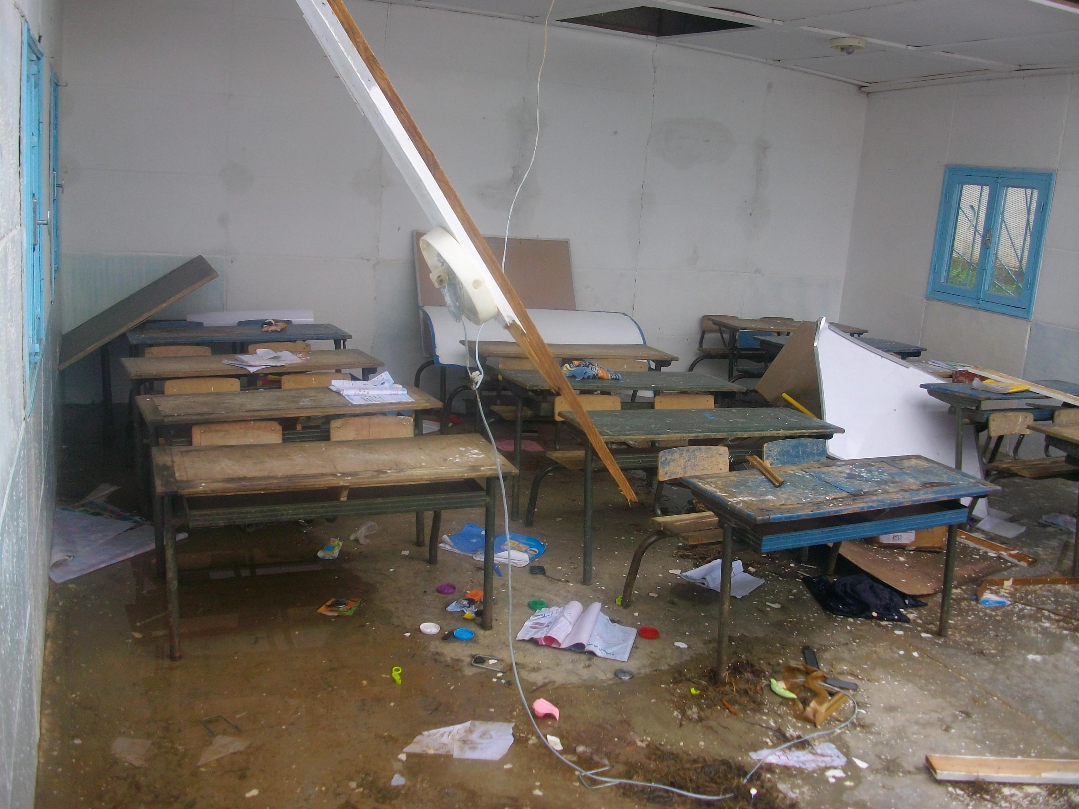 إصابة أربعة أشخاص بعد سقوط سقف حجرة في مدرسة ابتدائية ببرشيد