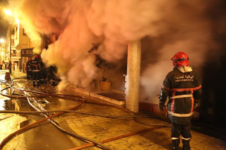 النيابة العامة بفاس تحقق في حريق مهول تسبب فيه مشردون ونجمت عنه انفجارات قوية قرب تجمعات سكنية