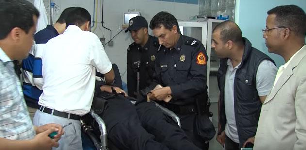 مواجهة بين الأمن ومختل مسلح بالدار البيضاء تنتهي بإطلاق الرصاص وإصابة مواطنين وعناصر للشرطة القضائية