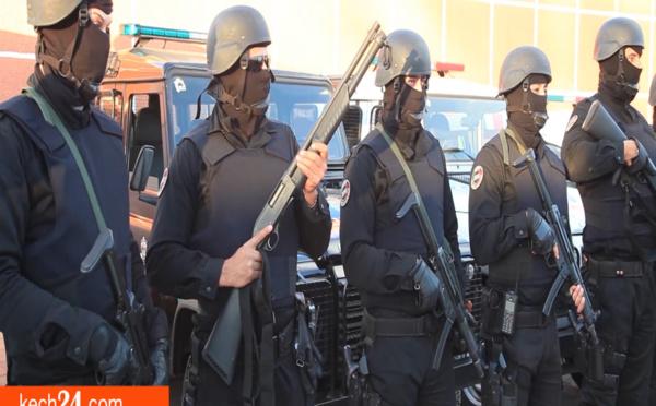 40 عنصرا من الفرقة الوطنية يحاصرون ويعتقلون مشتبها فيه بمحطة بنزين