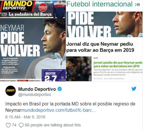 نيمار يريد العودة إلى برشلونة !