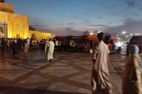 صورة فأر يتسبب في فوضى وإغماءات وسط المصلين بمسجد الحسن الثاني ليلة القدر