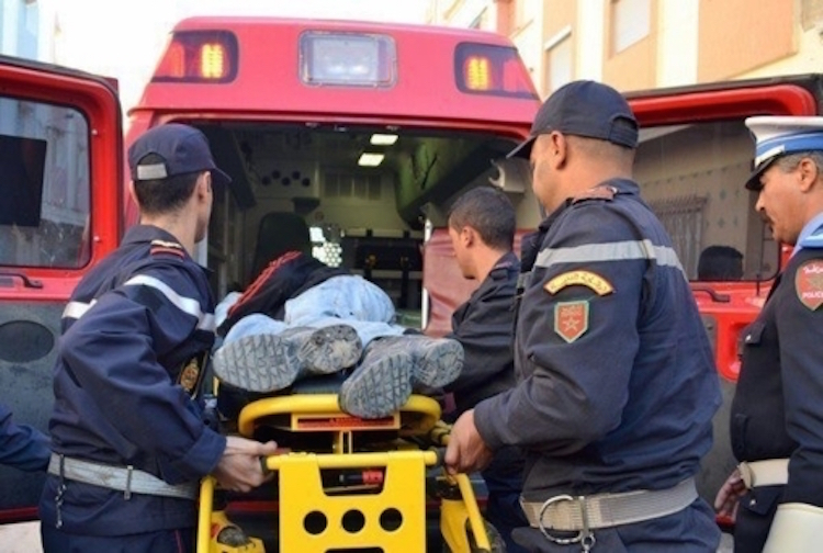 حادثة سير مميتة علي الطريق الوطنية رقم 1 بالقرب من بوزنيقة