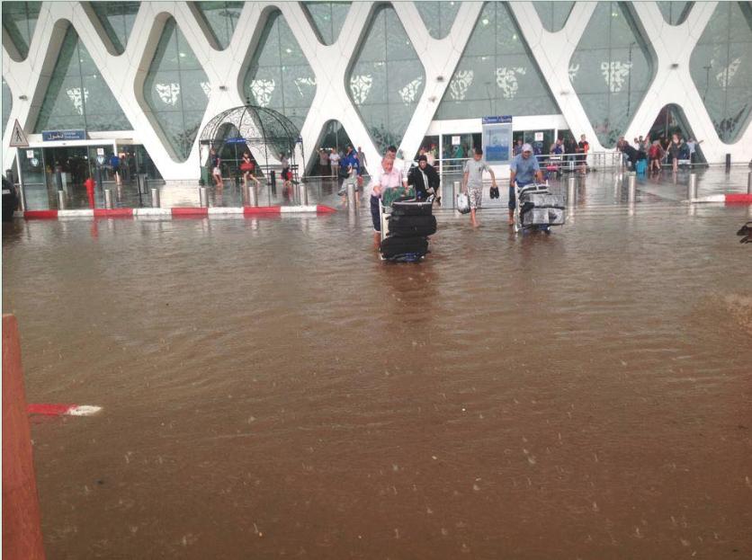 إغلاق أجواء مطار مراكش وتحويل وجهة ست طائرات إلى كل من البيضاء وأكادير