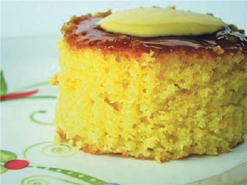 صورة كعكة البرتقال مع حبة البركة الخفيفة «الدايت»