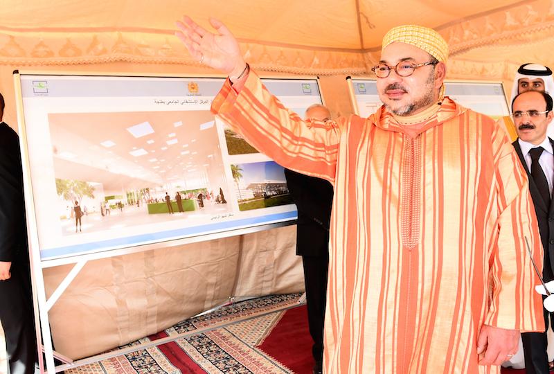 صورة الملك محمد السادس يعطي انطلاقة أشغال إنجاز مركز استشفائي جامعي بطنجة