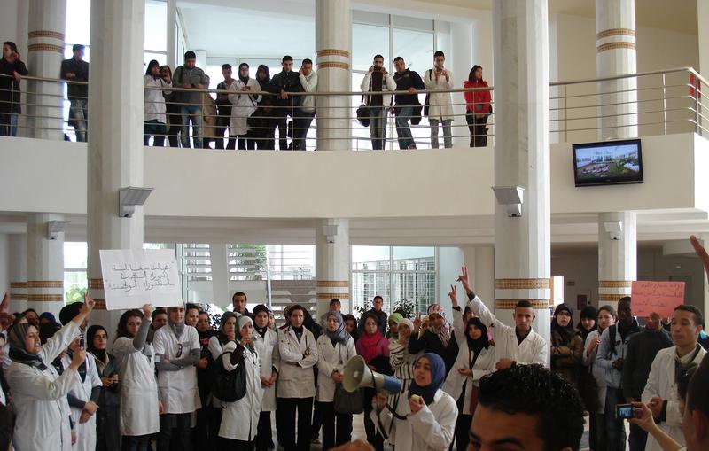 بعد طلبة الطب الممرضون المعطلون يصعدون في وجه الوردي