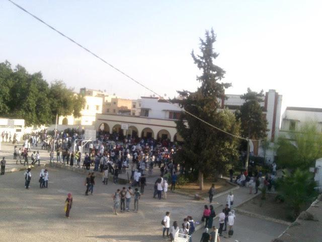 تلاميذ بالقصر الكبير يحتجون ضد تردي الوضع الأمني