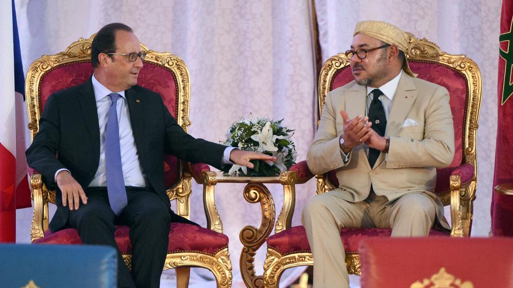 بان كي مون وهولاند يستقبلان الملك محمد السادس في القمة المناخية (كوب21)