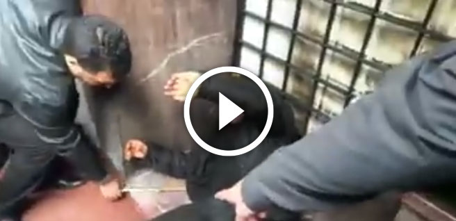 صورة إعادة تمثيل جريمة قتل وإحراق متشرد بالدارالبيضاء
