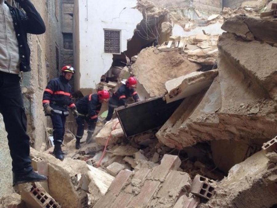 صورة هلع بفاس العتيقة خشية انهيار البنايات الهشة بسبب الأمطار