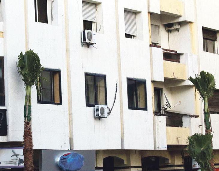 صورة سلطات طنجة تتراجع عن زرع نخيل يسهل مأمورية اللصوص للصعود للعمارات السكنية