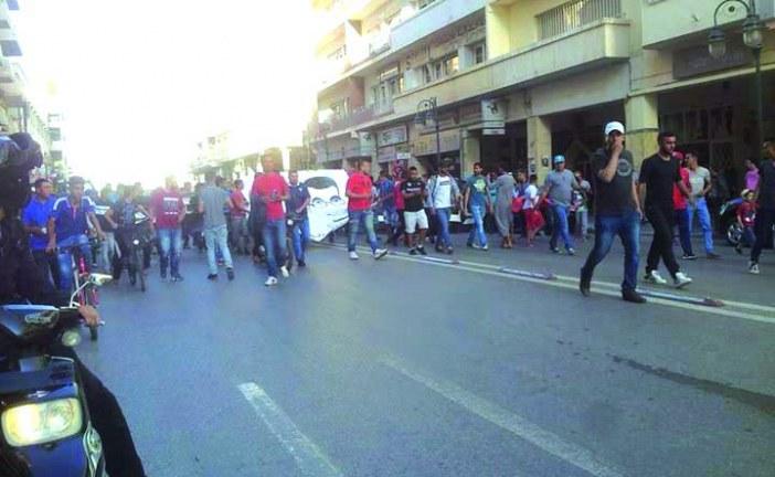 احتجاجات بوجدة بعد نزول المولودية إلى القسم الثاني