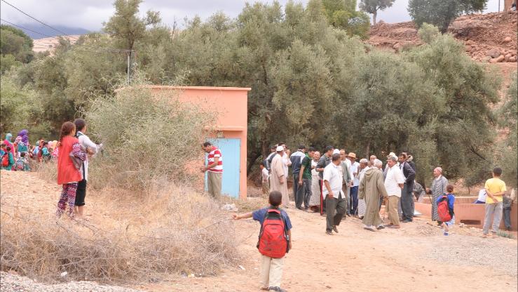 صورة مواجهات دامية ومسيرة احتجاجية بسبب ندرة المياه بنواحي زرهون وتازة