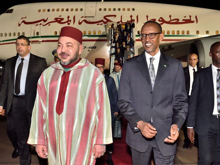 الملك يحل برواندا أولى محطات جولته الإفريقية