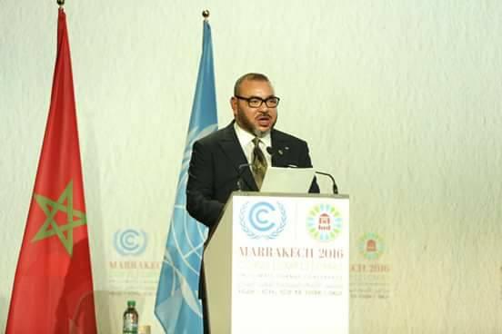 """الملك :""""مؤتمر مراكش يشكل منعطفا حاسما في مسار تنفيذ اتفاق باريس"""""""