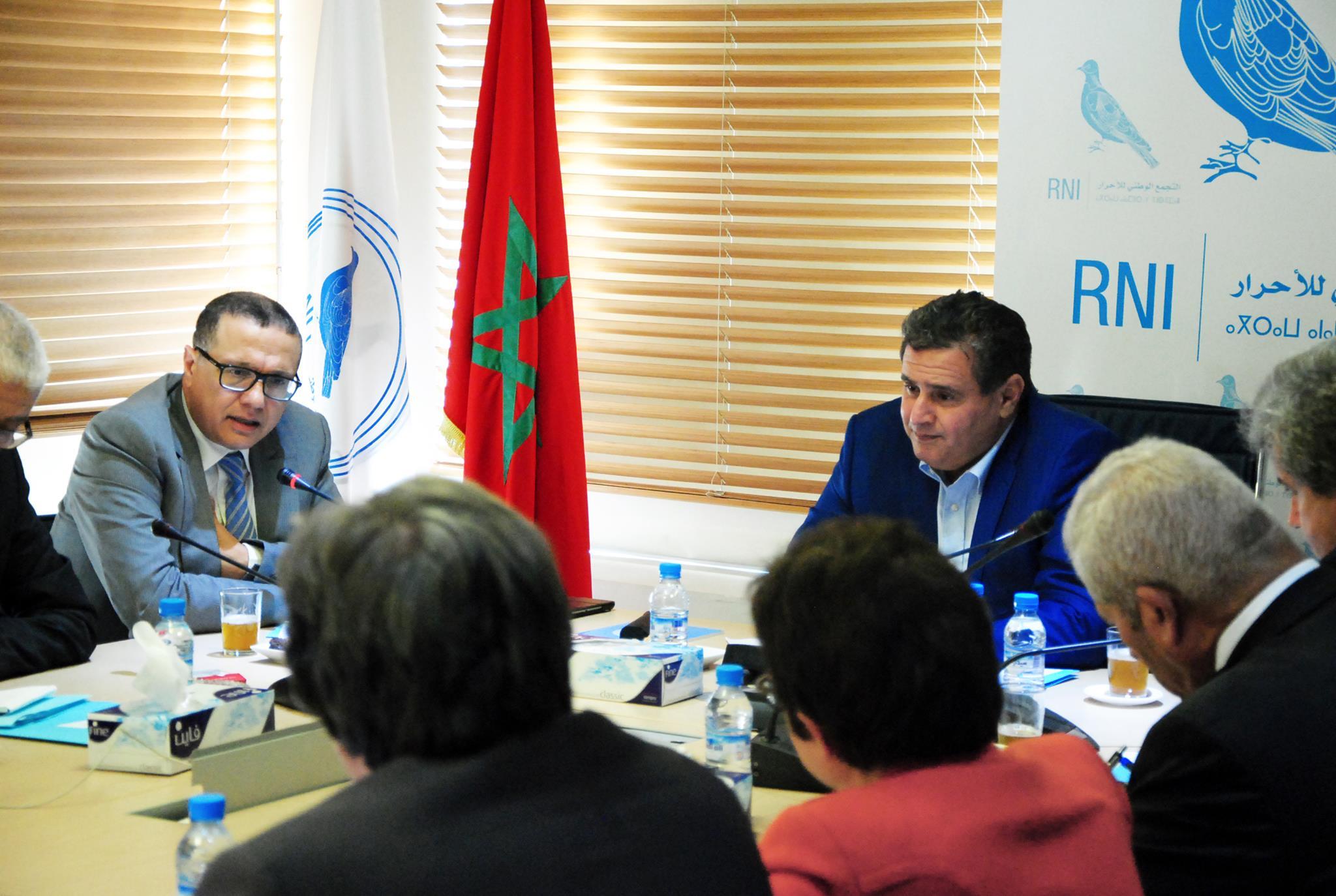 المكتب السياسي لحزب التجمع الوطني للأحرار يجتمع للحسم في دخول الحكومة