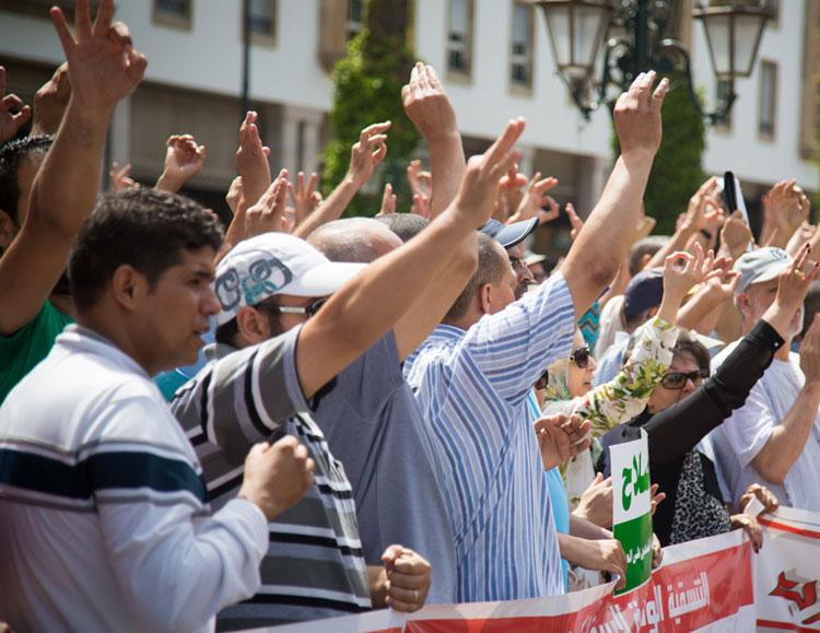 صورة مناهضو خطة إصلاح التقاعد يصعدون من احتجاجاتهم بالرباط