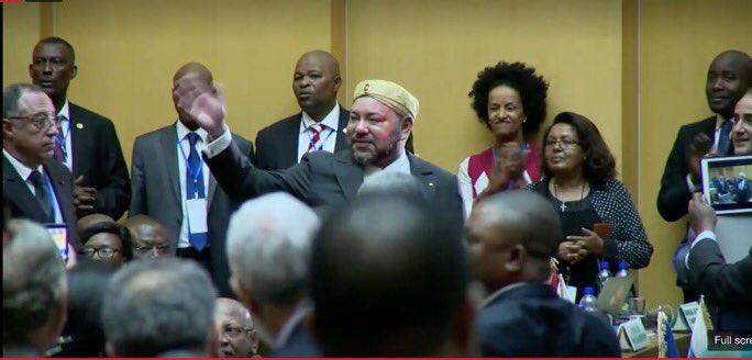 """صورة الملك """"افريقيا ظلت في صلب اهتماماتنا والمغرب يدخل الاتحاد من بابه الواسع"""""""