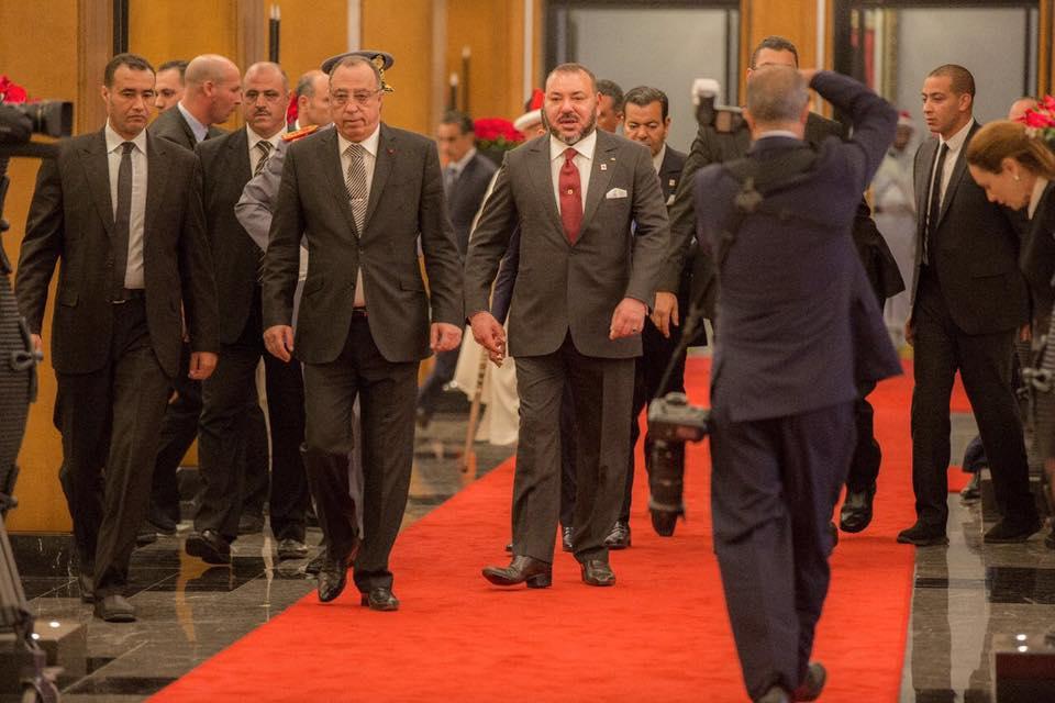 الملك يصل مقر الاتحاد الافريقي