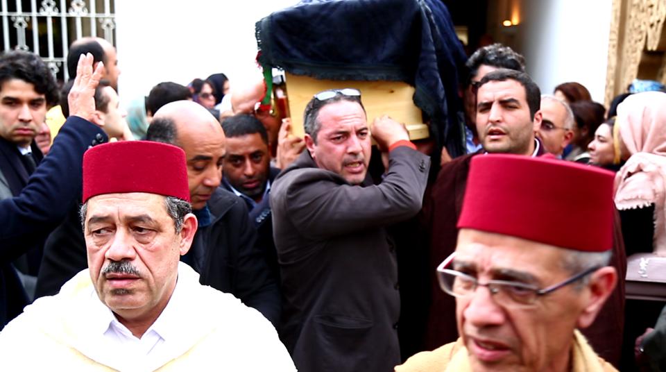 الاستقلاليون يودعون جثمان امحمد بوستة بنشيد الحزب