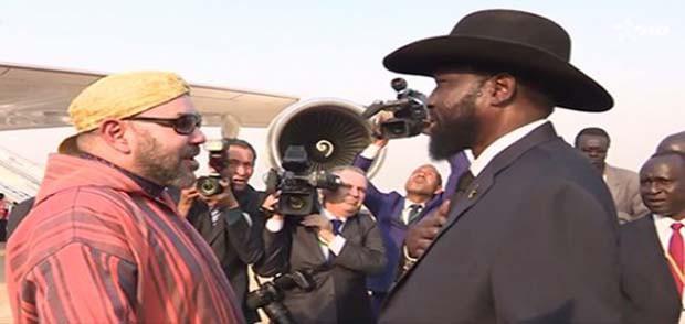 الملك يبعث برقية شكر لرئيس جنوب السودان في ختام زيارته الرسمية