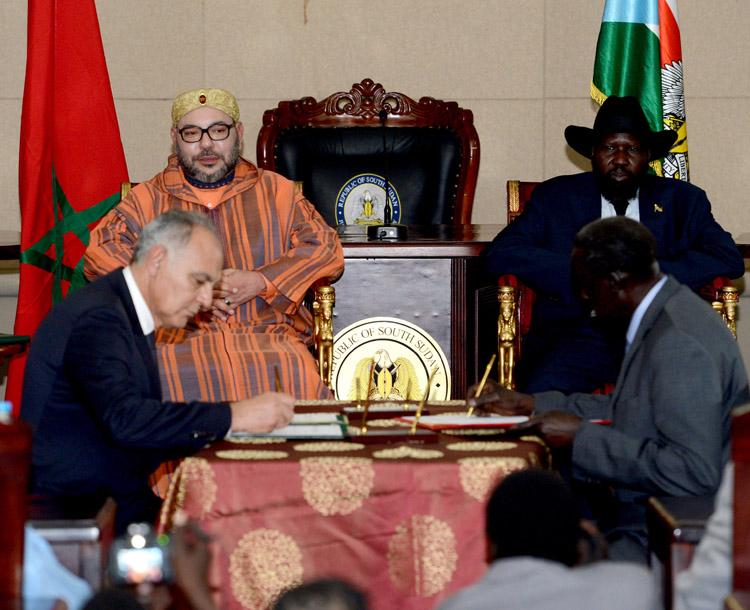 هذه هي الاتفاقيات التي ترأس الملك حفل توقيعها بجنوب السودان