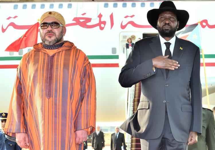الملك ورئيس جنوب السودان يترأسان حفل التوقيع على عدد من الاتفاقيات