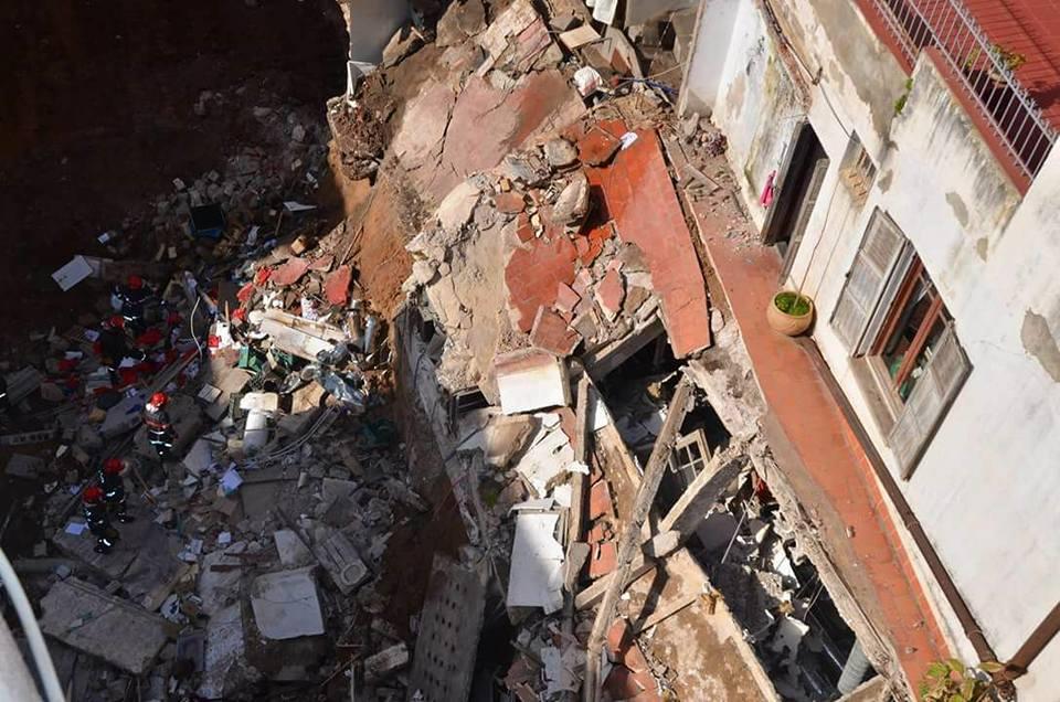 إصابة سيدة في انهيار جزء من منزل بالرباط