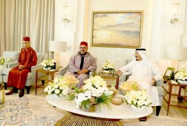 الملك يقوم بزيارة صداقة ومجاملة للعاهل السعودي سلمان بن عبد العزيز آل سعود بطنجة
