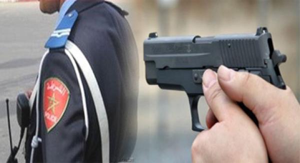 صورة إطلاق رصاصات تحذيرية بسبب التدفق غير المسبوق للمهاجرين السريين بضواحي طنجة