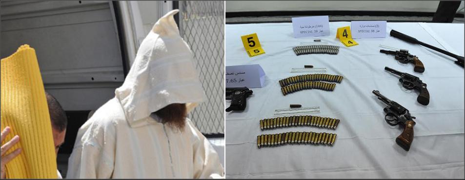 تفكيك مخبأ للسلاح بآسفي واعتقال مهاجر ومؤذن وحجز مسدس و108 رصاصات