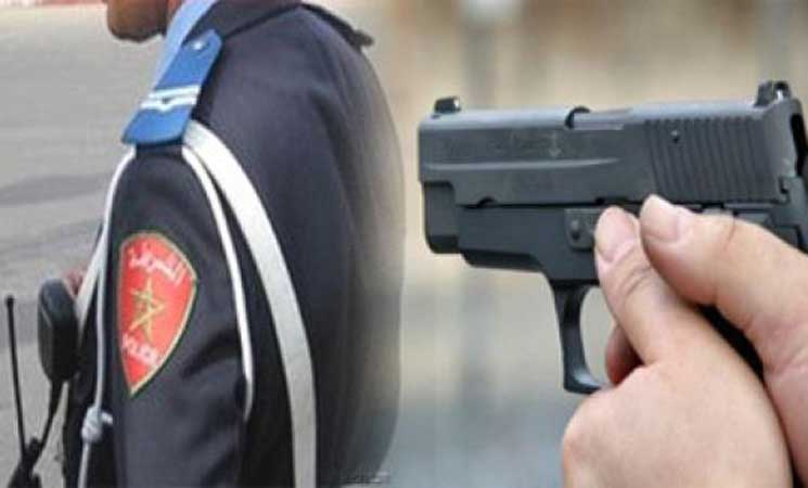 صورة إطلاق الرصاص على شخصين هاجما زوجين وحاولا طعن شرطي بآسفي