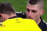 من مباراة ريال مدريد وباريس سان جيرمان | نيمار يضرب الحكم ويتسبب في ايقاف المباراة